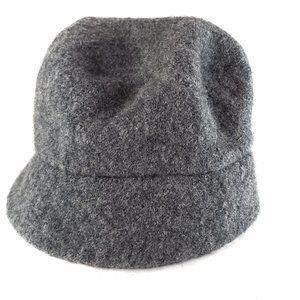 J.Crew Wool Bucket Hat OS Women's Grey Charocal Brimmed